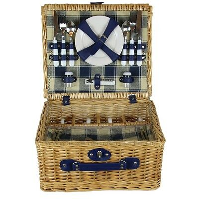 ZQ1-2699 Fashionable Wicker Picnic Basket for 4 People with Cooler
