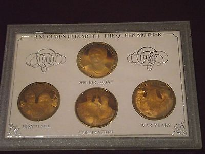 HM Queen Mother set of four coins 1900-1980