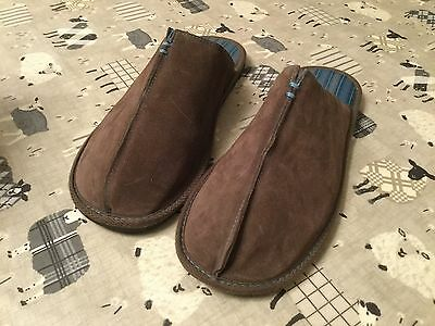 Mens Brown Mule Slippers 11/12