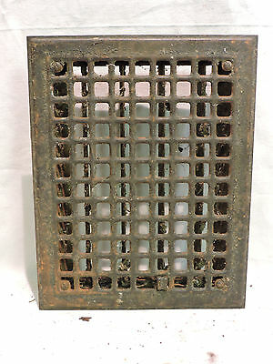 Vintage 1920S Iron Heating Grate Square Design 14 X 11   H