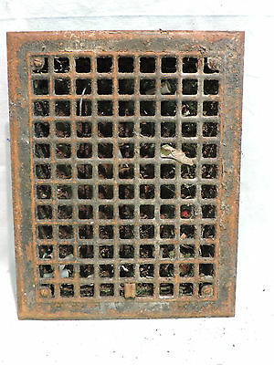 Vintage 1920S Iron Heating Grate Square Design 14 X 11   K