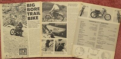 1970 Yamaha CT1 4 page test with specs Original Motorcycle article