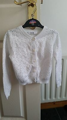 Girls white cardigan age 3-4