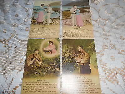 Bamforth Song Postcards Set Of Four Mona
