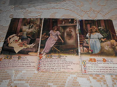 Bamforth Song Postcards Set Of Three A Broken Doll