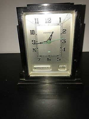 Hammond Electric Skyscraper Clock in Black Bakelite