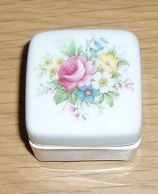 Limoges Trinket Or Pin Dish Pot With Lid  Hand Painted