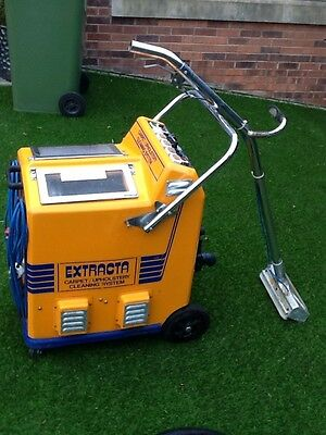 Extracta Exel industrial carpet cleaner with hand tools - good working order