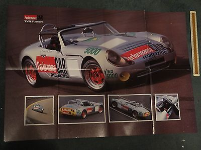 TVR Tuscan Challenge or supercars poster - A1 size - c 1989 - mint condition