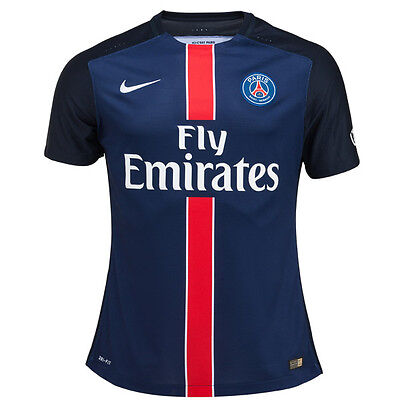 Nike Psg Official Stadium Players Shirt Strip Jersey Soccer Football M