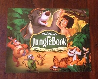 Walt Disney's JUNGLE BOOK 40th Anniversary Edition Lithograph Set of 4 w/ Folder