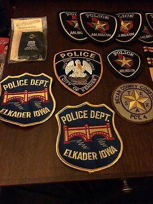 Nice Police Department Patch and Lapel Pin Lot!! Great Collection!!