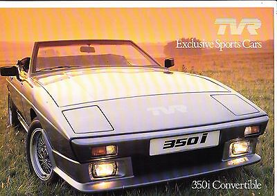 TVR 280i, 350i & 390SE high gloss brochure - 1985 - mint condition