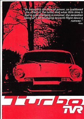TVR TURBO brochure - dated October 1976 - mint condition