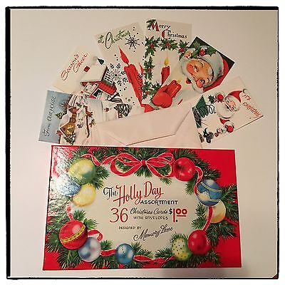 Vintage Christmas Cards Holly Day Assortment Memory Lane