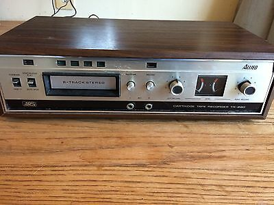 Vintage ALLIED 14-5016 TR-880 ARS 8 Track Player Recorder 1970'S Wood Case