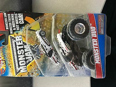 Hot Wheels Monster Jam Monster Duo Monster Mutt Dalmatian Rare Car & Truck