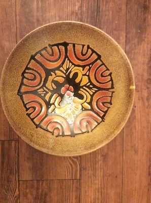 STYLISH  VINTAGE 1970s  POOLE POTTERY AEGEAN CHARGER DISH BOWL PLATE 26 cm