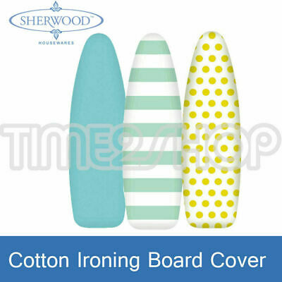 Sherwood 100% Cotton Ironing Board Cover Easy Fitted Iron Cover 128 x 40 CM