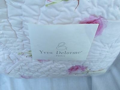 Yves Delorme Paris *rosemary Rose* Bed Throw Bedspread *new*