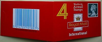 1994 Walsall 4x60p Barcode Booklet SG Catalogue No GQ1
