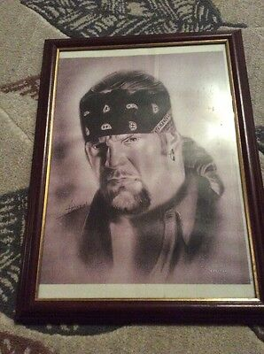 Hand Drawn Picture Of Wrestler The Undertaker