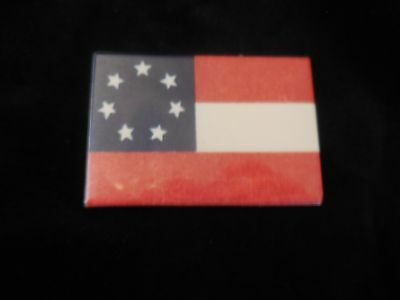 First National Flag of the Confederate States of America  Fridge Magnet