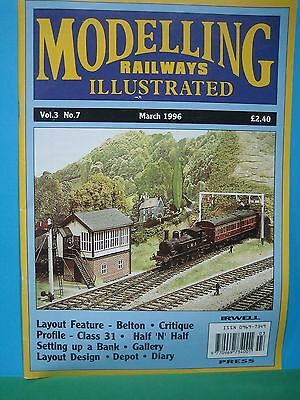 MODELLING RAILWAYS ILLUSTRATED ~ Vol 3 No 7 ~ MARCH 1996   EXCELLENT SEE PICS