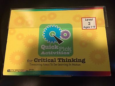 Quick Pick Activities for Critical Thinking Level 2 Ages 7-9