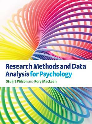 Research Methods and Data Analysis for Psychology by Wilson Stuart