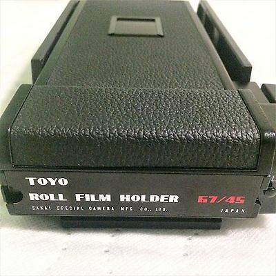 "Toyo Roll Film Holder 67/45 for 4x5 Camera (6x7cm back for 4x5"") from Japan"
