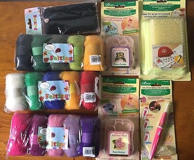 Clover Felting Items - Great Beginners Kit Gift Set includes 20 Items RRP $160