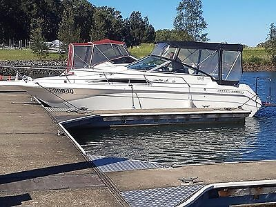 27ft Sea Ray cruiser with extended swim platform.