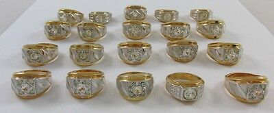 10K Yellow Gold Filled 20 Ring Lot - Great For Retail, Gold Recovery, Or Scrap