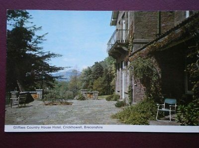 Postcard Breconshire Crickhowell - Gliffaes Country House Hotel