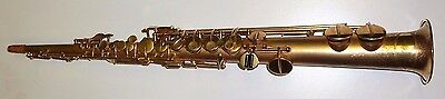 Beautiful vintage evette schaeffer French Soprano saxophone Gold plated LP