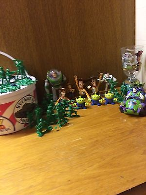 Toy story action figures Bundle Disney Pixar Small Plastic Toys And Glass
