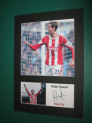 Peter Crouch A4 Photo Mount Signed Pre-Printed Charlie Adam Ryan Shawcross