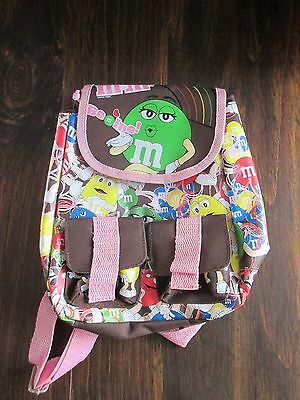 Near Mint Condition M&M backpack drawstring sack