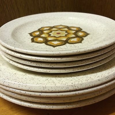 Vintage Palissy Royal Worcester Kalabar Pattern Dinner Plates 22cm And Side 17cm