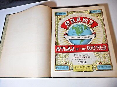 1904 Cram's New International Atlas Of The World Indexed - Chicago & New York