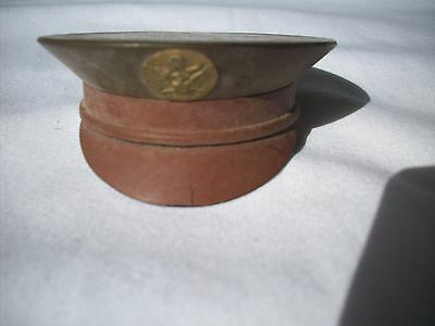 Vintage WWII World War II Military Army Hat Sweetheart Plastic Powder Compact
