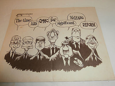 Ephemera 1979 Cartoon The Time Has Come for Significant Welfare Reform