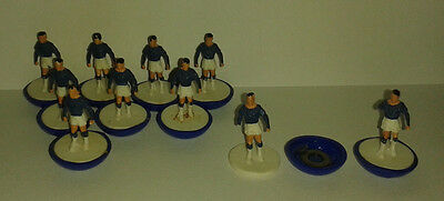 Subbuteo 10 x Blue Moulded Walkers Rare Heavyweight Players HW Football Team