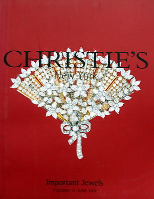 Christie's Important Jewels New York 6/12/01 Sale 9668 HAMMER PRICES INSIDE