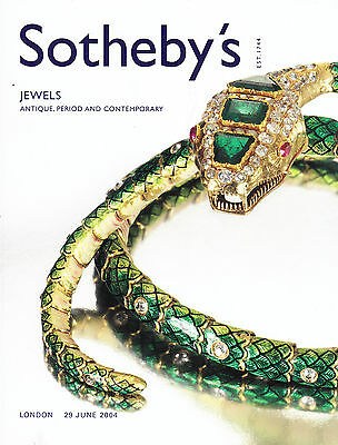 Sotheby's Jewels: Antique, Period & Contemporary 6/29/04 London Auction Catalog