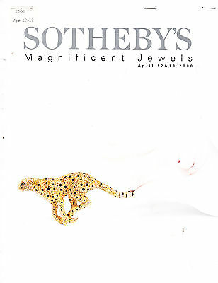 Sotheby's Magnificent Jewels New York 4/12/00 Auction Catalog