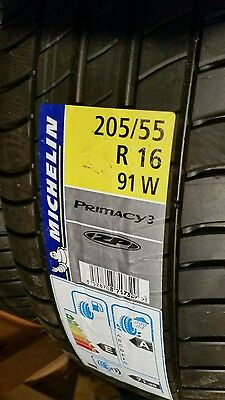 2 x Michelin Primacy 3  205/55 R16 91w Run Flat Tyre BRAND NEW