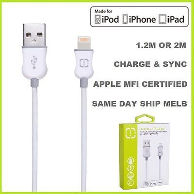 Genuine MFI Lightning USB Charging Cable for Apple iPhone 7 6S 6 Plus 5 5s iPad