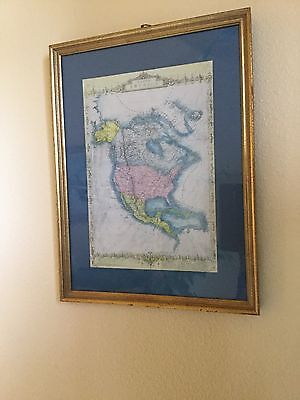 North America Map Engraved by J. Rapkin